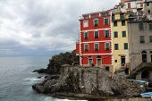 LIGURIA, ITALY - MAY 02, 2014: Riomaggiore, one of the Cinque Terre villages, UNESCO World Heritage