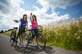 Girls On A Bicycle Trip