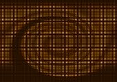 Abstract brown spiral spot mosaic background.
