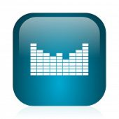 sound blue glossy internet icon