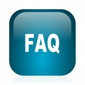 faq blue glossy internet icon