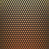 metal grid fire background