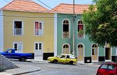 Cars By Colorful Homes