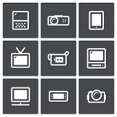 Tv And Video Equipment Icon Set