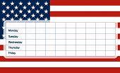 Usa Flag School Timetable