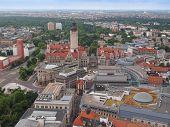 foto of leipzig  - Aerial view of the city of Leipzig in Germany - JPG
