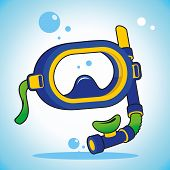 picture of rubber mask  - Protective stylish mask for snorkeling and fishing - JPG