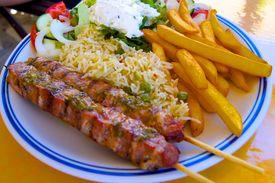 pic of souvlaki  - Souvlaki a typical food of greece cos - JPG