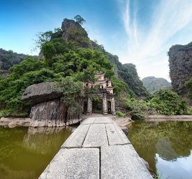 stock photo of dong  - Bich Dong Pagoda in Ninh Binh - JPG