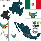 Map Of Hidalgo, Mexico