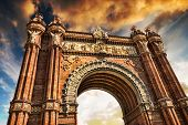 Triumphal Arch of Barcelona againstÃ??Ã??? sky