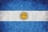 Mosaic Flag of Argentina