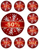 winter sale tags