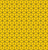 Seamless geometric texture with optical illusion effect.  Illustration.