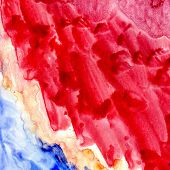 Blue And Red Painted Texture