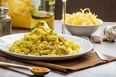 Tagliatelle with chicken curry