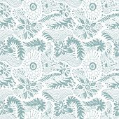 floral seamless doodle pattern