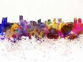 Windsor Skyline In Watercolor Background