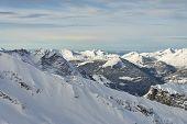 Alpine Winter Mountain Range