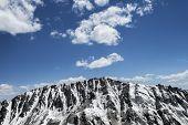 Snow Covered Sharp Mountain Ridge