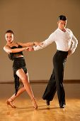 image of samba  - latino dance couple in action  - JPG