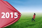 Woman Pulling Number Of 2015