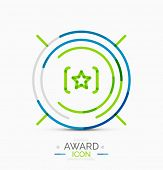 Award icon, logo. Modern business symbol, minimal outline design
