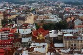top view of the city Lviv