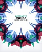 Abstract decorative retro ornaments background