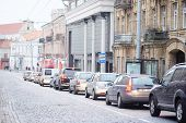 image of a VILNIUS,LITHUANIA, November 17, 2014: view of the Vilnius city