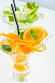 Fresh Lime and Orange Mojito with twist