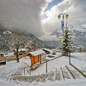 Stairs In French Alpine Village