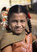 Young Tamil Schoolgirl.