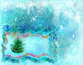 Winter Background And Fir-tree