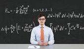 Businessman Sitting In School