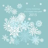 Elegant Christmas background with snowflakes place for text. Vector