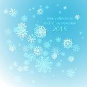 Snowflakes winter, blue, background, snow, decoration, cold, ornament,