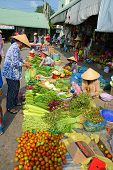 Street stall selling vegetables, Can Tho, southern Vietnam