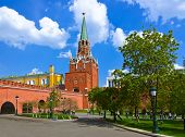 Alexandrovsky garden in Kremlin at Moscow Russia