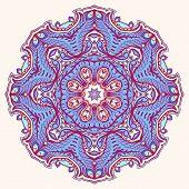 Round Leaf Purple Pattern - 2