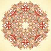 Round Natural Orange Pattern