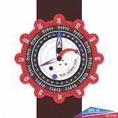 Solar Calendar Watch