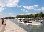 Paris. Walking Along The Seine.