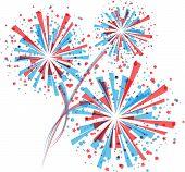 Fireworks in white