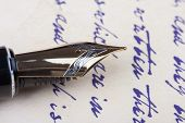 Old Fountain Pen Old Manuscript