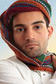 Arab Man Wearing  Turban
