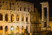 Theatre Of Marcellus At Night