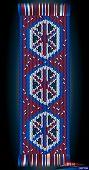 Romanian Traditional Wool Hand Woven Motif