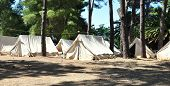 tent camp in the woods