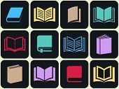 Colorful Book Icon Set